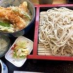 蕎麦処 大宣 - Aセット900円海老二本と野菜のミニ天丼&おそばのセットです