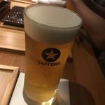 とり口 - 生ビール