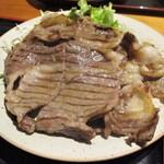 84719164 - 国産牛 上リブロース 塩焼き定食 2枚(約100g~120g×2)1,850円(税込)。      2018.04.24