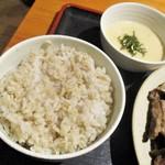 84719192 - 国産牛 上リブロース 塩焼き定食 2枚(約100g~120g×2)1,850円(税込)。      2018.04.24