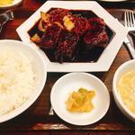 万豚記 - 真っ黒酢豚ご飯セット