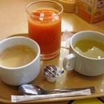 ガスト - ドリンクバー&日替わりスープ(モーニング)