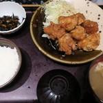 やまや - ・「鶏の唐揚げ明太子風味定食(\1100)」