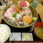 磯丸水産 - 刺身6点盛+ご飯セット