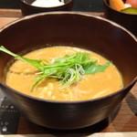 cuud - ◆カレーうどんハーフ ルーは程よい辛味でお出汁の味わいも感じ美味しい。