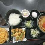 ゆで太郎 - 料理写真:朝そば(納豆)360円・季節のかき揚げ200円・かき揚げはクーポンで無料(2018.3.11)