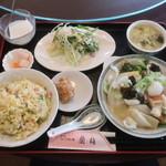 四川料理 蘭梅 - 料理写真:イカと彩り野菜の塩炒め定食(チャーハン変更)