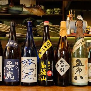 厳選した日本酒はお刺身やお鍋にも良く合います♪有名銘柄多数!