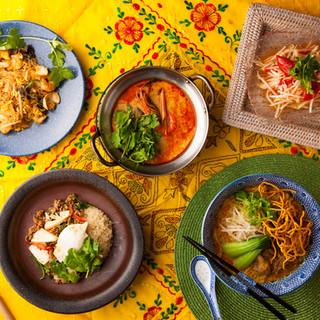 本場タイ料理を楽しめます※ランチはタイ料理提供しておりません