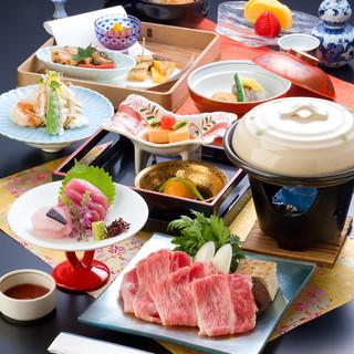 """茨城県産幻の黒毛和牛""""飯村牛""""を使用したお料理に舌鼓…。"""