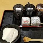 清修庵 - おぼろ豆冨の調味料