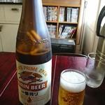 手打ち讃岐うどん じゃんぼ - 瓶ビール大(530円)