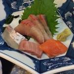 海の幸 磯の坊 - ランチの定食 刺身4種盛合せ