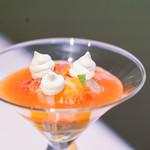 キメラ - 文旦とブラッドオレンジのデザート