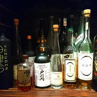 メインの日本酒以外にも国産地酒をご用意