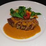 ネオビストロアンドバー トリノ - この日の肉料理からアンガス牛のソテー、マスタードソース