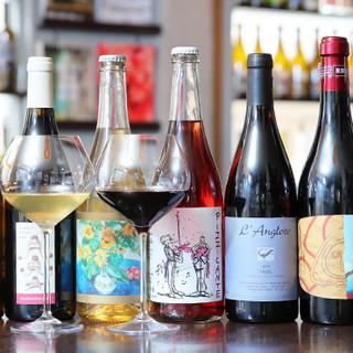 30種類以上のワインを各種品揃え!自然派ワインに舌鼓…♪