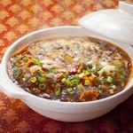 とろーりチーズ入り濃厚マーボー豆腐の土鍋仕立て