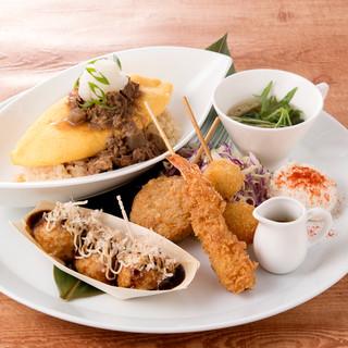一皿で大阪グルメを満喫していただける、期間限定プレート