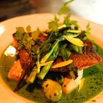 アルルの食堂 urura - イサキのポワレ 筍と、木の芽の香り