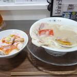 一日一麺LAB+ - ヘタ丼セット(浮気)