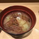 ワイン・寿司・天ぷら 魚が肴 - お味噌汁美味!