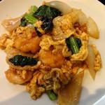 麗華 - 海老と玉子の甘辛炒め