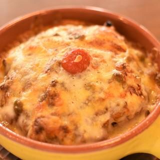 【焼きチーズのキーマカレー】