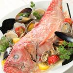 スポーティフ カフェアンドレストラン - 本日の魚介たっぷりアクアパッツァ