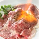 スポーティフ カフェアンドレストラン - 黒毛和牛リブロースの炙り