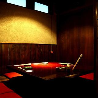【大小個室】2名様~可能な個室席や14名様迄可能な半個室あり
