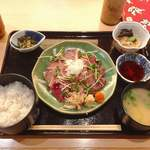 Akasakaajisai - 限定 鰹のたたき定食 @1,200円
