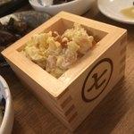 七勺日本酒・醸し肴 SEVEN - 守口漬のポテサラ 守口漬のポリポリとした歯応え最高!