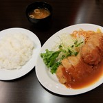 スピカ - ポークカツランチ(全体)