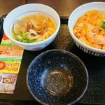 なか卯 - 親子丼+あさりうどんセット