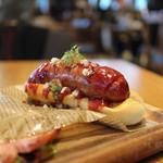 肉が旨いカフェ NICK STOCK - プレミアムホットドッグ☆