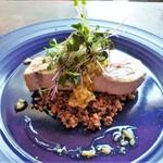 アメニテ ギンザ - メカジキのポワレ~雑穀サラダとグリビッシュソース~