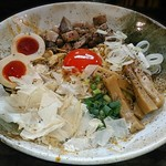 縁乃助商店 - 料理写真:【汁なしHOT麺 + 味玉】¥850 + ¥100(税抜)