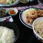 どん亭 - からあげ定食+うどん 600円☆(第一回投稿分②)