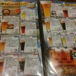 世界のビール博物館 - 樽生ビールメニュー
