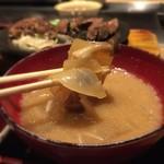 鉄板料理 堂島 - 牛骨スープのお味噌汁