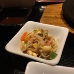 鉄板料理 堂島 - 小づけ皿のナムル(゚Д゚)ウマー!(゚Д゚)ウマー!