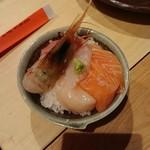 炭焼厨房 笑○ - ミニ海鮮丼(2018.04)