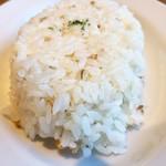 貝殻荘 - ご飯は雑穀米で食感良し