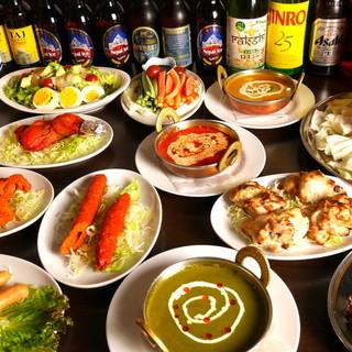 大人気の本格ネパール料理の旋風◎お酒に合うおつまみも豊富!!