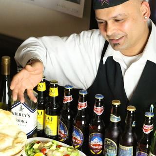 """スパイス華やかな料理דネパールビール""""は最高の組み合わせ☆"""