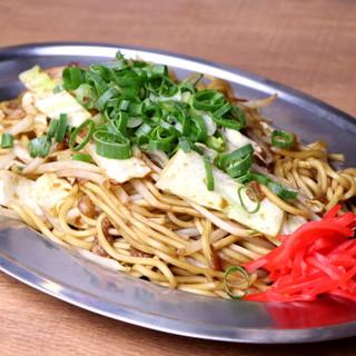 本場神戸の麺を使用◎こだわり尽くしの焼きそばをご堪能あれ!