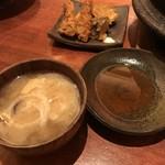粋魚 むらばやし - 天ぷら・汁物