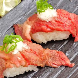 梅田!肉の寿司!ここにあり!!和牛馬肉♪