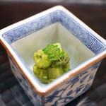 白子筍 原木椎茸 粟麩 木の芽味噌和え